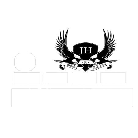 Stickers pour cbn Johnny Hallyday 70 ans