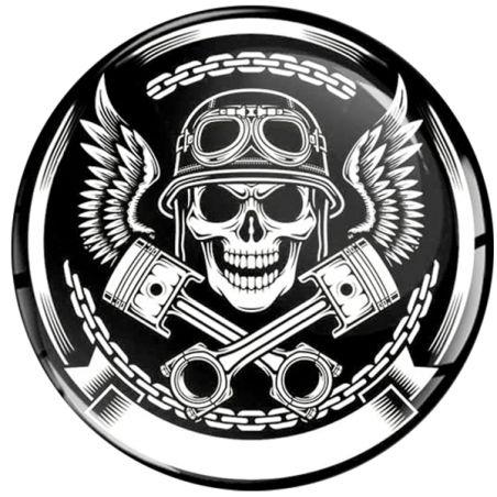 Stickers tete de mort pour casque de moto