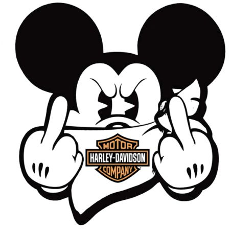 Stickers Mickey Fuck Harley Davidson