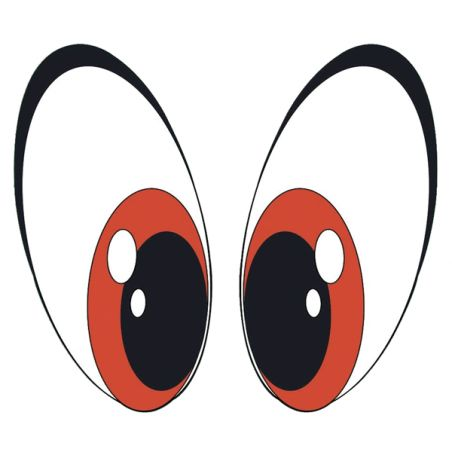 Stickers yeux cartoon pour casque moto