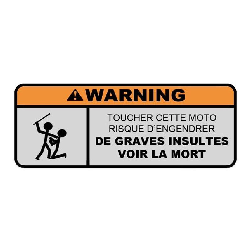 Les stickers Warning