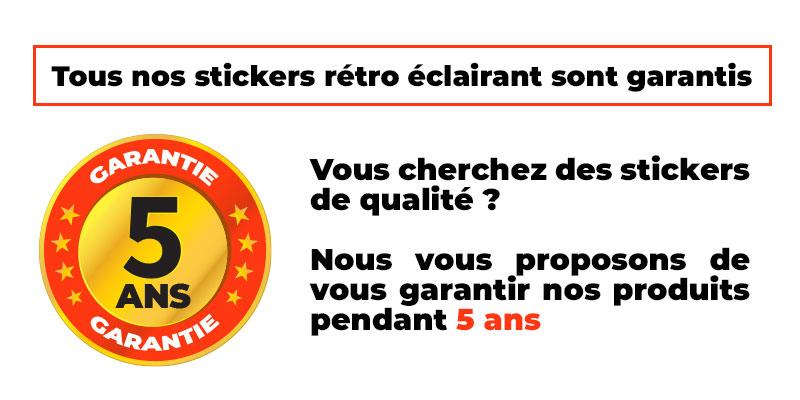 Bannière Stickers retro réfléchissant Monster